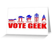 VOTE GEEK Greeting Card