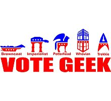 VOTE GEEK Photographic Print