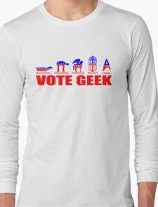 VOTE GEEK Long Sleeve T-Shirt