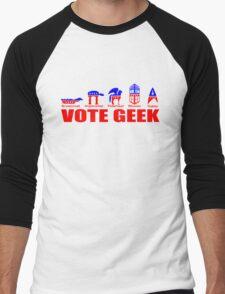VOTE GEEK Men's Baseball ¾ T-Shirt