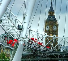 Big Ben Through The Eye by Colin J Williams Photography