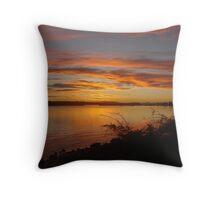 Burnt River Training Wall Sunset Throw Pillow