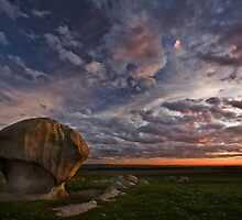 Twilight at the Rock by Lisa  Kenny