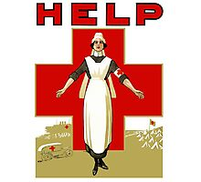 Vintage Red Cross -- Help Nurse Photographic Print