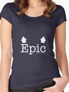 Epic Breasts Reverse Women's Fitted Scoop T-Shirt