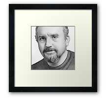 Louis CK Portrait Framed Print