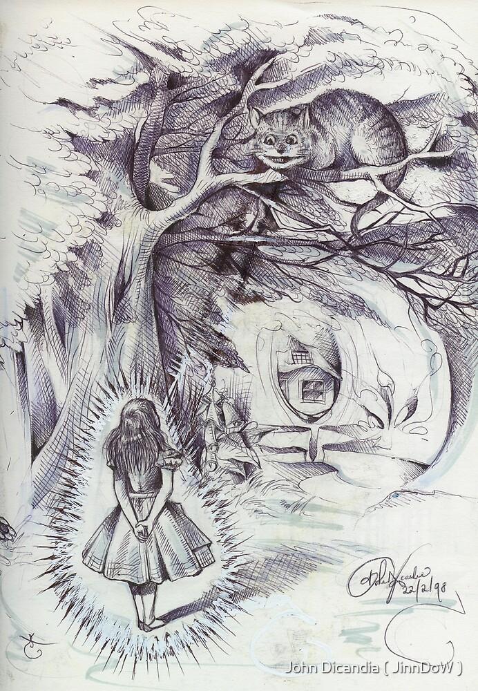 Alice Beams Into Wonderland  by John Dicandia ( JinnDoW )
