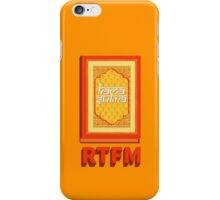 RTFM iPhone Case/Skin