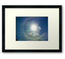 HALO RAINBOW Framed Print