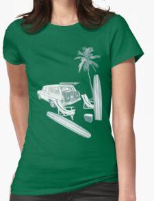 Beach Retreat Womens Fitted T-Shirt