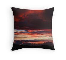 A Storm at Sunset Throw Pillow