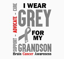 I Wear Grey For My Granddaughter (Brain Cancer Awareness) Unisex T-Shirt