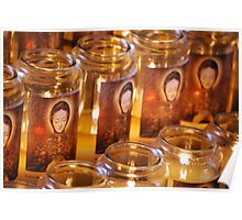 Candles for Mother Mary Poster