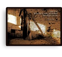 Retired Shovel Canvas Print