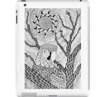 Arara bird and sun in nankin ink iPad Case/Skin