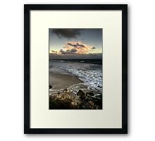 Evening on a Winters Beach... Framed Print