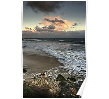 Evening on a Winters Beach... Poster