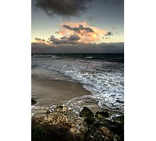 Evening on a Winters Beach... Photographic Print