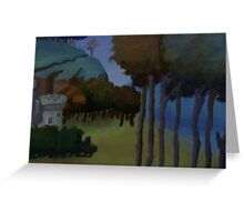 Medieval Landscape Greeting Card