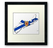 Nova Scotia Flag Map  Framed Print