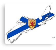 Nova Scotia Flag Map  Canvas Print