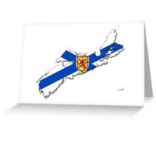 Nova Scotia Flag Map  Greeting Card