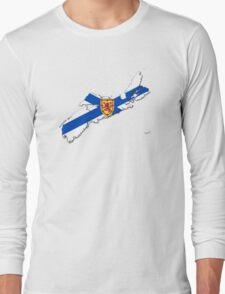 Nova Scotia Flag Map  Long Sleeve T-Shirt