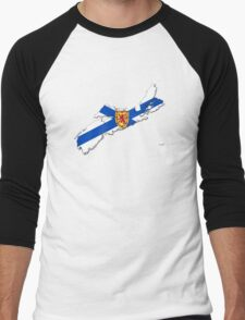 Nova Scotia Flag Map  Men's Baseball ¾ T-Shirt