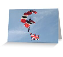 The Red Devils...British pride Greeting Card