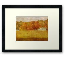 Farmstead in Evening Light Framed Print