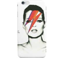 kate moss david bowie vogue spread iPhone Case/Skin