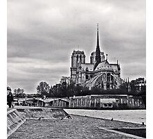 Notre Dame_bw Photographic Print