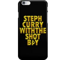 Steph Curry With The Shot Boy [Shiny Gold] With 3 Sign iPhone Case/Skin