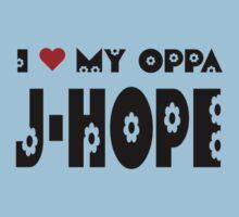 I HEART MY OPPA JHOPE - BLUE Kids Clothes