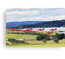 Red Arrows Display Team 2008 Canvas Print