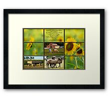 Love of Farm, Love of Country Framed Print