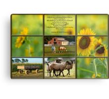 Love of Farm, Love of Country Metal Print