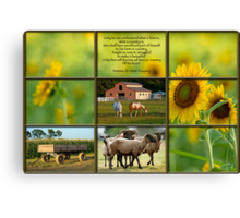 Love of Farm, Love of Country Canvas Print