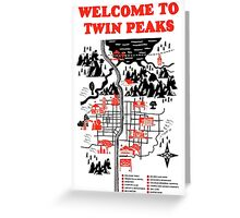Welcome to Twin Peaks Greeting Card