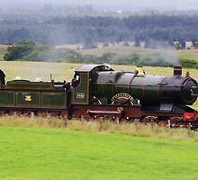 The City of Truro Steam Train by Richard Hanley www.scotland-postcards.com