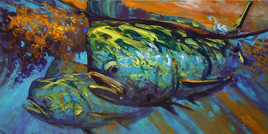 Mahi At Sunset by Mike Savlen