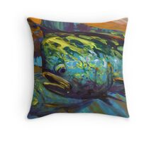 Mahi At Sunset Throw Pillow