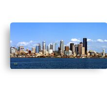 Seattle Skyline Ten Canvas Print