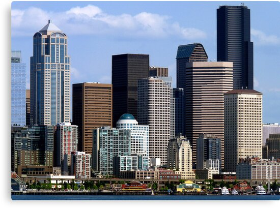 Seattle Skyline Two by Rick Lawler