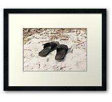 Beach Sandals Framed Print