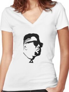 DJ Carnage Women's Fitted V-Neck T-Shirt