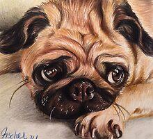 Hug A Pug by fischerart