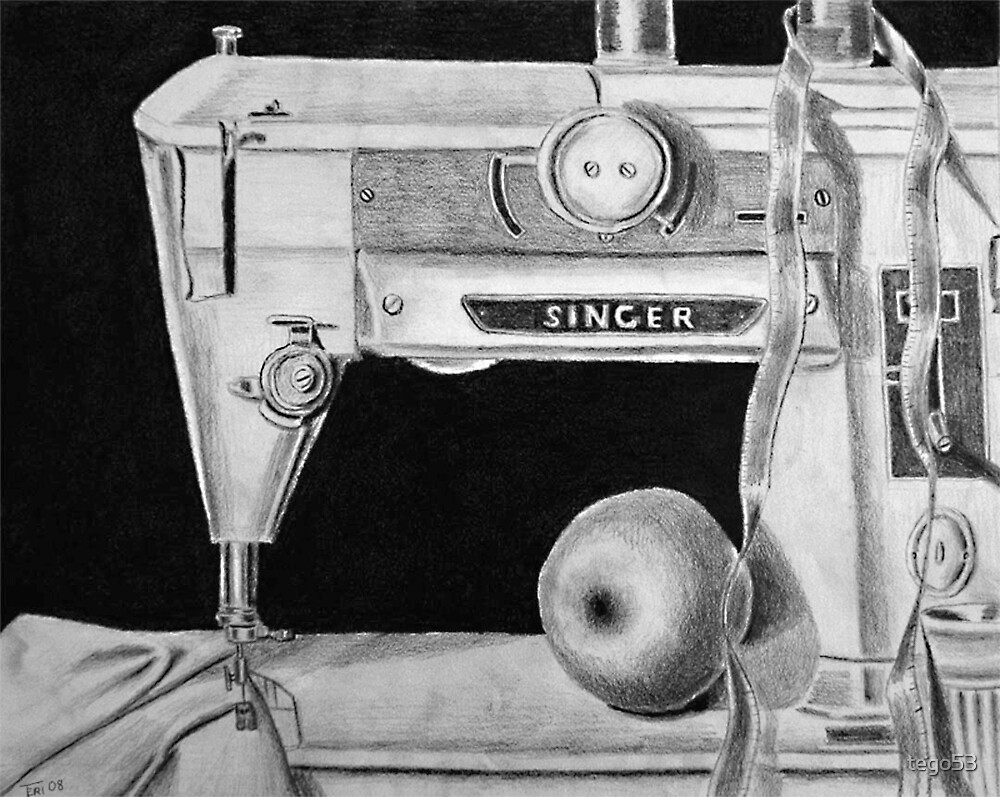 my old sewing machine by tego53