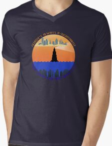 There's always a lighthouse... Mens V-Neck T-Shirt