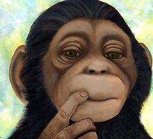 Wise monkey by Margaret Sanderson